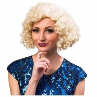 Charleston pruik blond voor dames