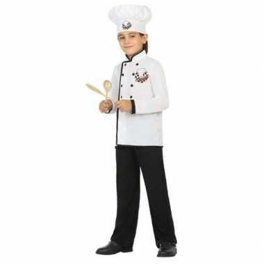 Chef kok uniform kostuum voor jongens