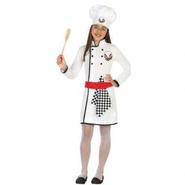 Chef kok uniform kostuum voor meisjes