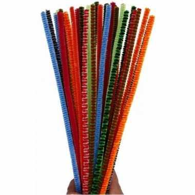 Chenilledraad diverse kleuren 30 cm 30 st
