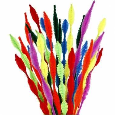 Chenilledraad diverse kleuren gegolfd 30 cm 28 st