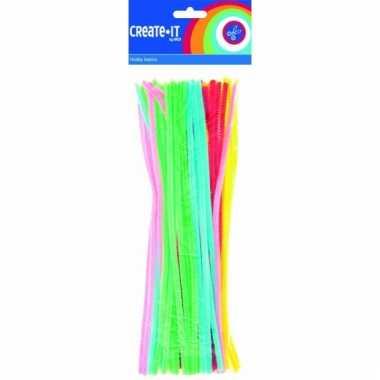 Chenilledraad fluorescerend 30 cm 50 st