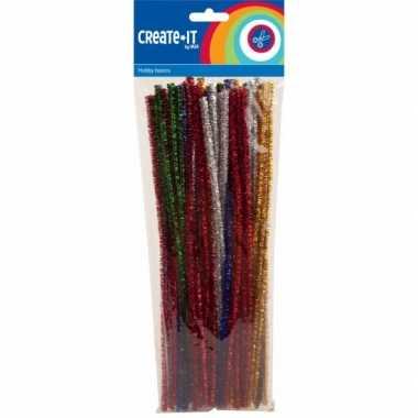 Chenilledraad glitters 30 cm 50 st