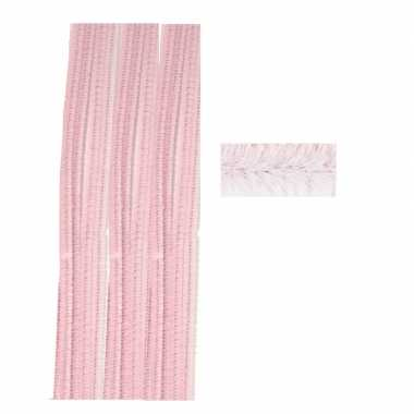 Chenilledraad roze 50 cm 10 st