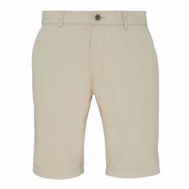 Chino korte broek naturel voor heren