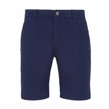 Chino korte broek navy voor heren