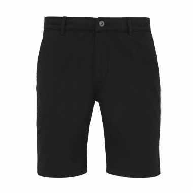 Chino korte broek zwart voor heren