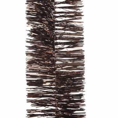 Chique christmas kerstboom decoratie slinger bruin 270 cm