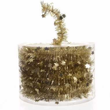 Chique christmas kerstboom decoratie sterren slinger goud 700 cm