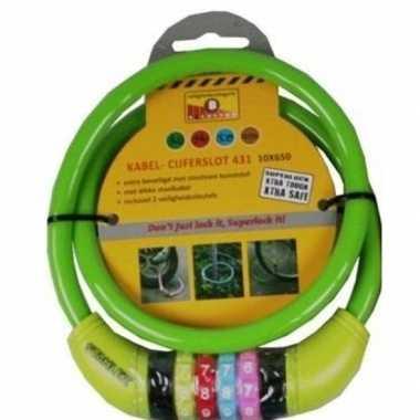 Cijfer kabelslot groen 10 x 650 mm