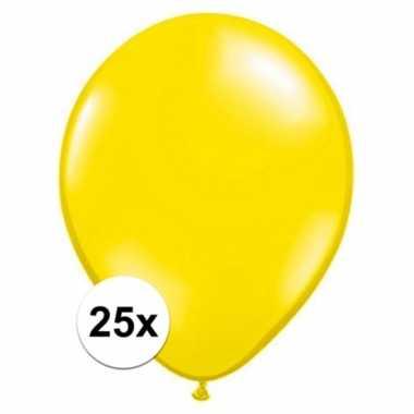 Citroen gele qualatex ballonnen 25 stuks