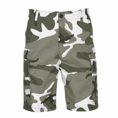 City camouflage shorts voor heren