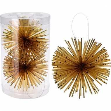Classic gold hang decoratiebol goud 11 cm