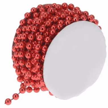 Classic red kralen slinger rood 4 meter