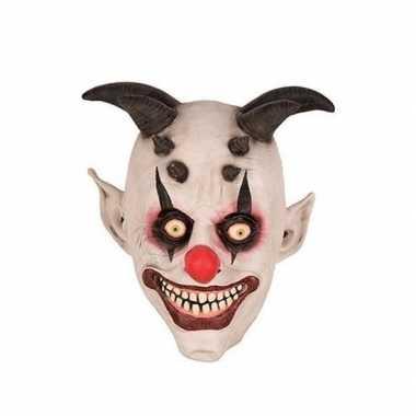 Clown horror/halloween masker van latex
