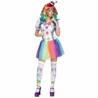 Clowns kostuum compleet voor dames