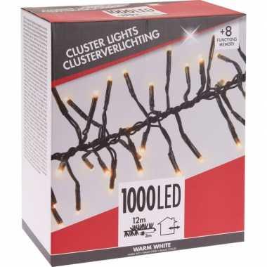 Cluster boomverlichting warm wit 1000 lampjes budget