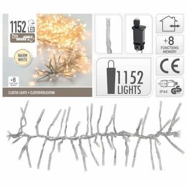 Cluster boomverlichting warm wit 1152 lampjes