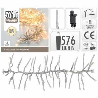 Cluster boomverlichting warm wit 576 lampjes