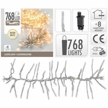 Cluster boomverlichting warm wit 768 lampjes