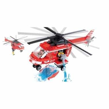 Cobi brandweerhelikopter bouwstenen pakket
