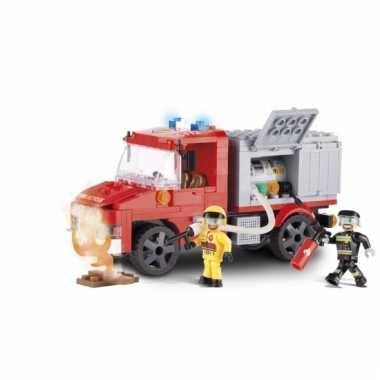 Cobi brandweerwagen bouwstenen pakket