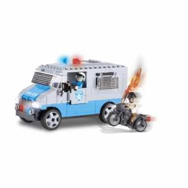 Cobi politiebus bouwstenen pakket