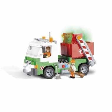 Cobi vuilniswagen bouwstenen pakket