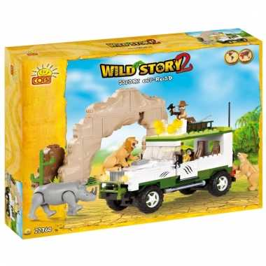 Cobi wild story jeep bouwstenen pakket