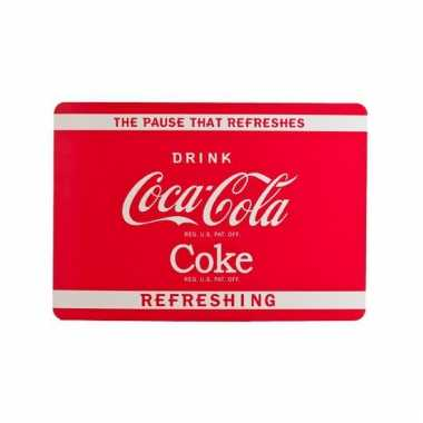 Coca cola placemat rood van plastic