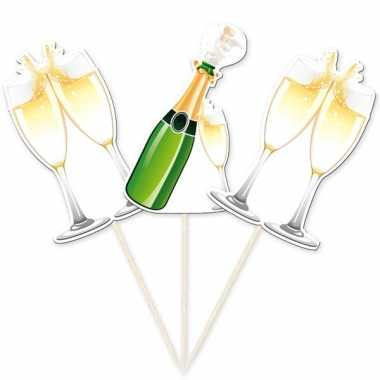 Cocktailprikker champagneglazen