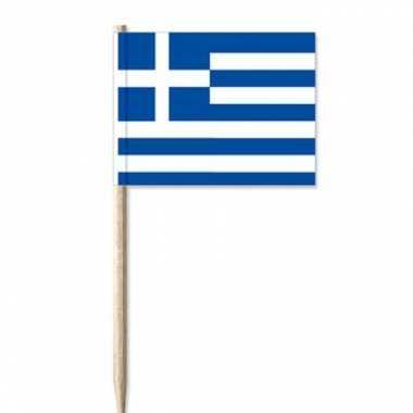 Cocktailprikker griekenland vlaggetjes 100 st