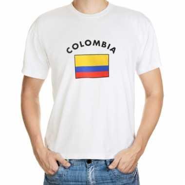 Colombia vlag t-shirts voor heren