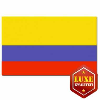 Colombiaanse vlag luxe kwaliteit