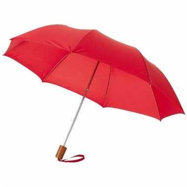 Compacte paraplu rood 56 cm