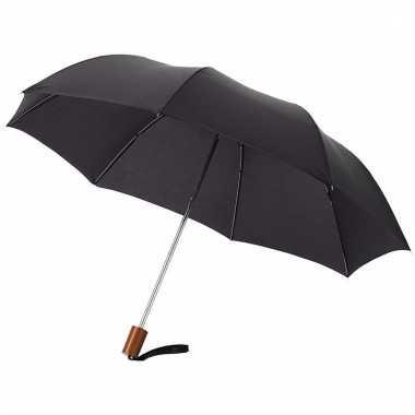 Compacte paraplu zwart 56 cm