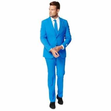 Compleet blauw kostuum voor heren