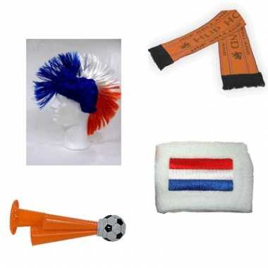 Compleet oranje supporters pakket