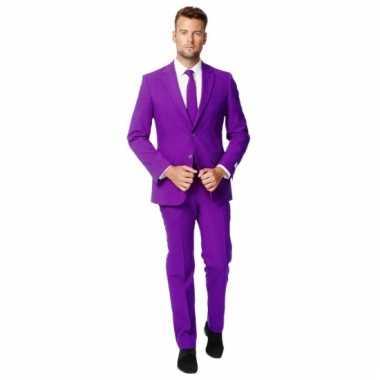 Compleet paars kostuum voor heren