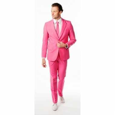 Compleet roze kostuum voor heren