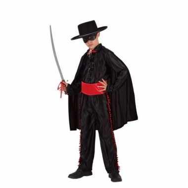 Compleet zwarte held verkleedkostuum voor jongens
