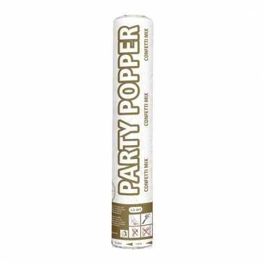 Confetti kanon mix goud/zilver 26 cm