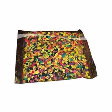 Confetti zak van 1 kilo multicolor