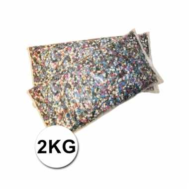 Confetti zak van 2 kilo multicolor