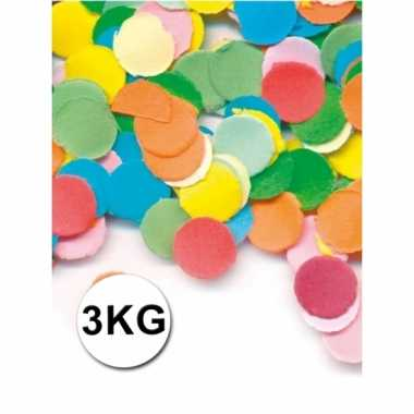 Confetti zak van 3 kilo multicolor brandvertragend