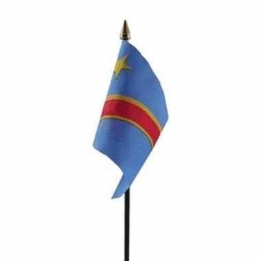 Congo vlaggetje polyester