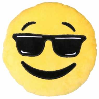 Coole emoticon kussentje 30 cm