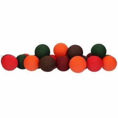 Cotton balls herfst lichtsnoer