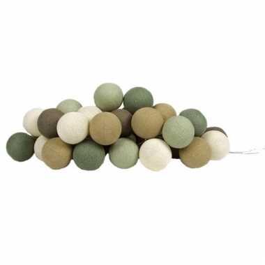 Cotton balls lichtsnoer forest green