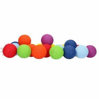 Cotton balls regenboog lichtsnoer